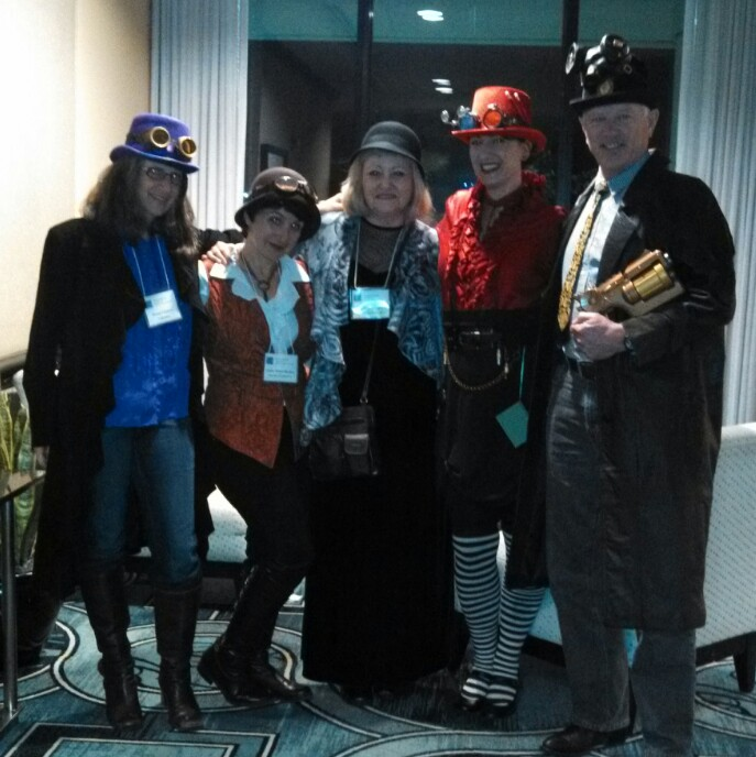 Steampunked at the SCBWI conference in Miami January 18, 2014